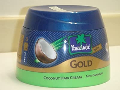 Parachute Gold Hair Cream Anti Dandruff - 4.7 fl.oz. (140ml) - Contains Lemon And Coconut