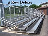 NRS Inc. 5 Row Aluminum Bleachers (Deluxe Model) (Call 1-800-327-0074 to order)