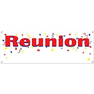 Reunion Sign Banner Party Accessory (1 count) (1/Pkg) from The Beistle Company