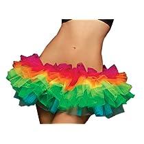 Seven Til Midnight Womens Rainbow Tulle Tutu