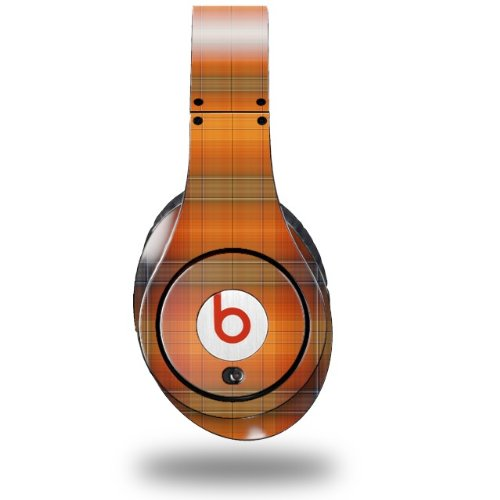 Plaid Pumpkin Orange Decal Style Skin (Fits Original Beats Studio Headphones - Headphones Not Included)