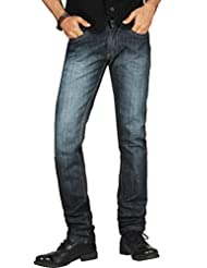 DFU Black Narrow Fit Mid Rise Denim Cotton Jeans For Men   DFU17114
