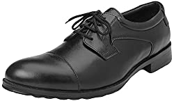 Go Mens Black Faux Leather Formal Shoes - 10 UK