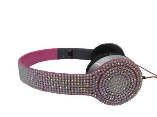 Mix'D Crystal Embellished Pink Headphones