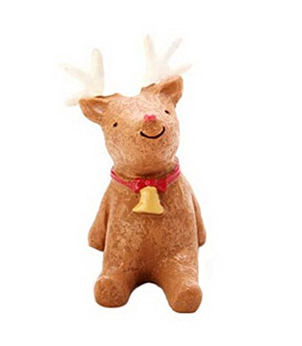 Christmas Themed Animal Ornaments Resin Look Up to the Sky--The Deer