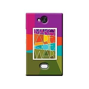 Garmor Make Art Not War Design Plastic Back Cover For Nokia Asha 503 (Black)