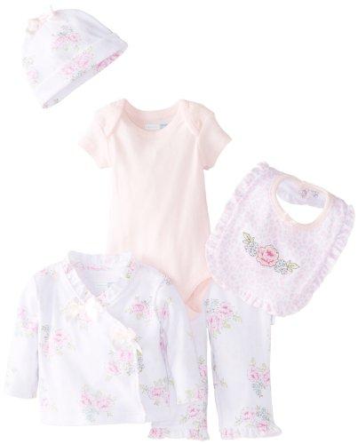 Vitamins Baby Baby-Girls Newborn Floral 7 Pack Gift Set, White, 6 Months
