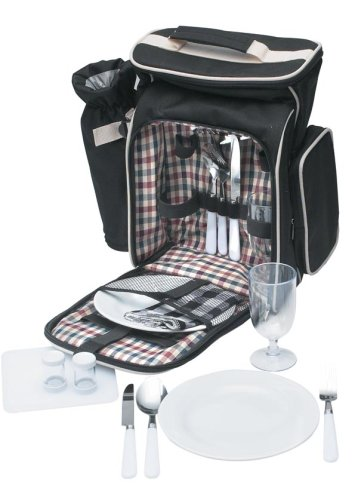 Maxam 17pc Picnic Backpack Set
