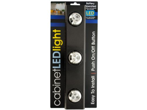 Wholesale Set Of 3, 9-Led Under-Cabinet Light With Rotating Lights (Lighting, Touch Lights)