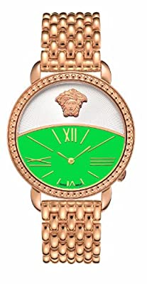 Versace Women's 93Q80D220C S080 Krios Green Dial IP Rose-Gold Bracelet Watch