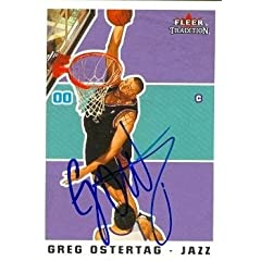 Greg Ostertag Autographed Hand Signed Basketball Card (Utah Jazz) 2003 Fleer... by Hall of Fame Memorabilia