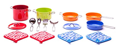 Children's 15 Pc Deluxe Cookware Play Set (Childrens Play Cookware compare prices)