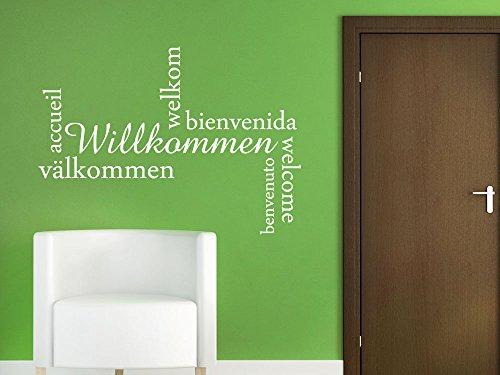 Graz Design 720447_57_070 Wandtattoo Wandaufkleber Wand Deko Eingang Flur Willkommen viele Spachen