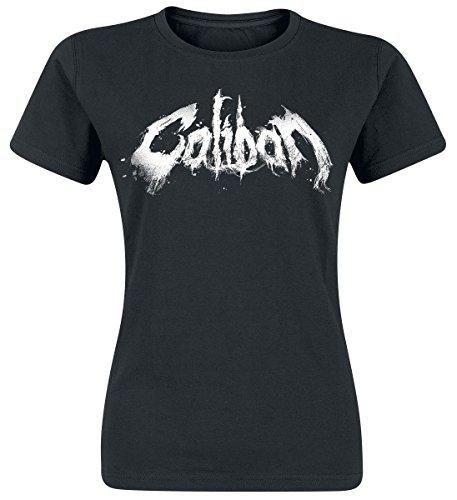 Caliban Logo Maglia donna nero XL
