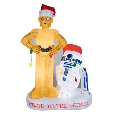 Christmas Inflatable Star Wars Airblown 5.5ft R2D2 and C2PO Scene