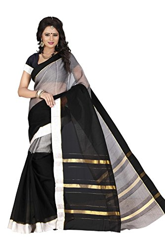 Harsh Sarees Women's Multi Colour Supernet Cotton Saree (GUD-1304_Multi Colour)