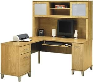 Bush Furniture L Shaped Desk With Hutch Home Office Furniture Sets