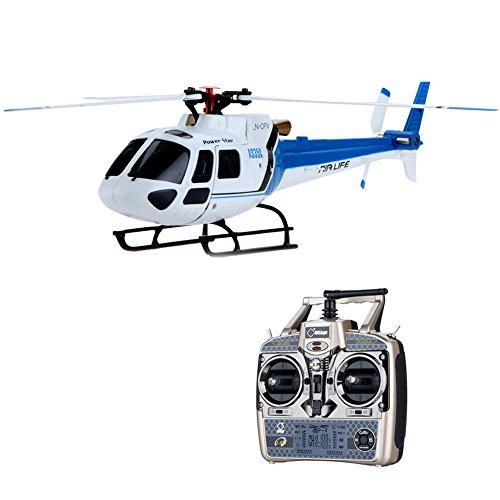 Wltoys Blue V931 Rtf 6Ch 3 Blade Brushless Motor Flybarless Rc As350 Scale Helicopter