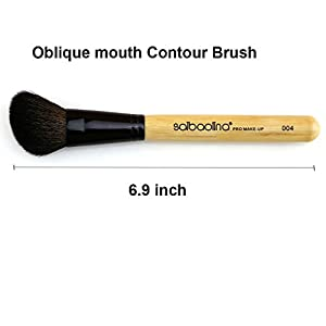 Saibaolina Soft Makeup Oblique mouth Contour Brush Powder Foundation Make Up Tool Cosmetics Brush Animal Goat hair