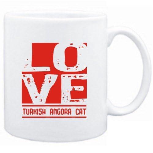 Mug White  LOVE Turkish Angora  Cats