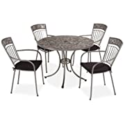 Home Styles Glen Rock Marble 5-Piece Dining Table Gray