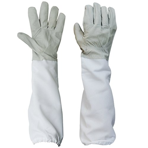BESTOPE-1-Pair-Beekeeping-Protective-Gloves-w-Vented-Long-Sleeves-433