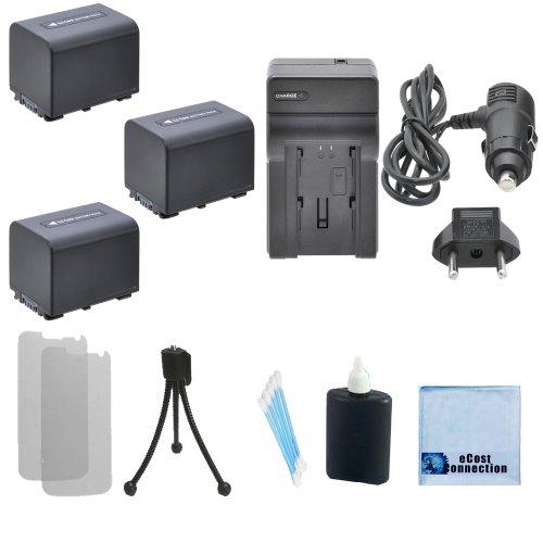 3 Np-Fv70 Replacement Batteries + Car/Home Charger For Sony Dcr-Pj5, Dcr-Pj5E, Dcr-Sr15, Dcr-Sr15E, Dcr-Sr20, Dcr-Sr20E, Dcr-Sr21, Dcr-Sr21E, Dcr-Sr68, Dcr-Sr78, Dcr-Sr78E, Dcr-Sr88, Dcr-Sx15, Dcr-Sx15E, Dcr-Sx20, Dcr-Sx20E, Dcr-Sx21, Dcr-Sx21E, Dcr-Sx33,