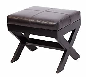 Ottoman dark expresso leather sleeper chair ikea