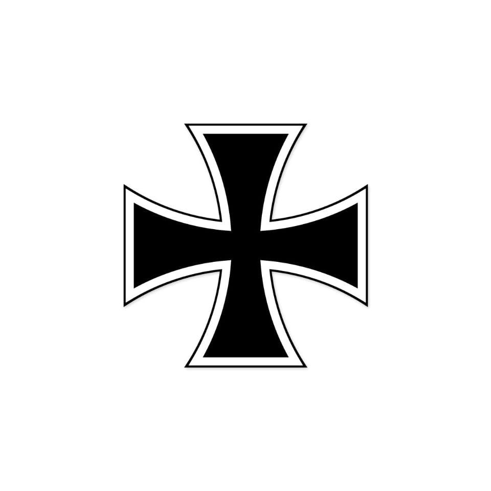 German Iron Cross car bumper sticker window decal 4 x 4