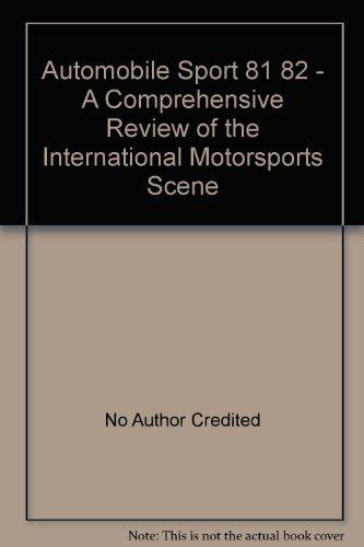 Automobile Sport 81 82 - A Comprehensive Review of the Internati