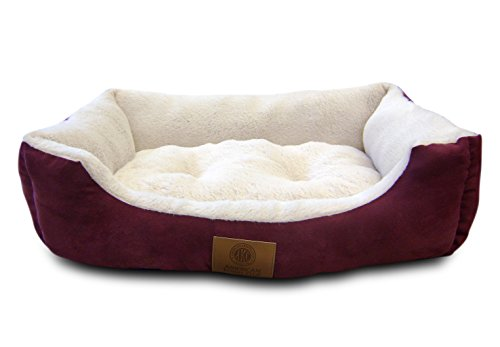 American-Kennel-Club-Suede-Cuddler-Solid-Pet-Bed