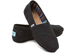 Toms Women\'s Classic Black/Black Casual Shoe 7 Women US