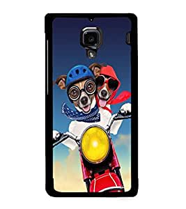 Fuson Premium Joy Ride Metal Printed with Hard Plastic Back Case Cover for Xiaomi Redmi 1S