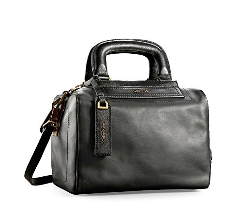 Calvin Klein Womens Aster Mini Leather Duffle Bag