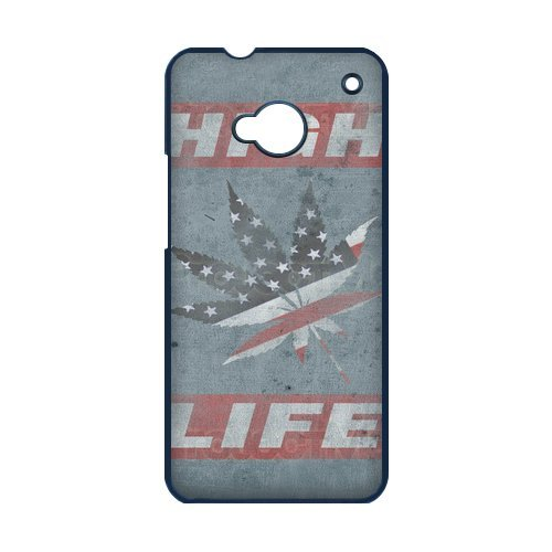Generic Mobile Phone Cases Cover For Htc One M7 Case Country American Flag Marijuana Cannabis Weed Hemp Leaf Smoker Design Custom Made Hard Snap On Cell Phones Shell Protect Skin