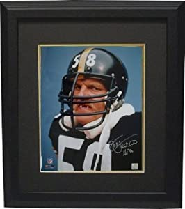 Jack Lambert Autographed Hand Signed Pittsburgh Steelers 16x20 Photo HOF 90 Custom... by Hall of Fame Memorabilia