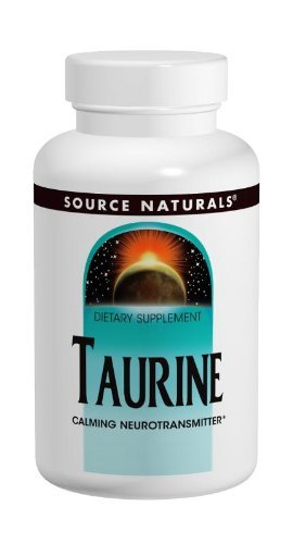 Source Naturals Taurine 500mg, 60 Tablets (Pack Of 2)