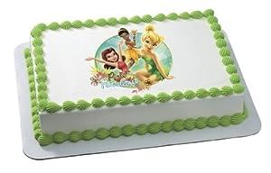Edible Cake Decorations Fairies : Tinkerbell Pixie Fairies Fabulous Personalized Edible Cake ...