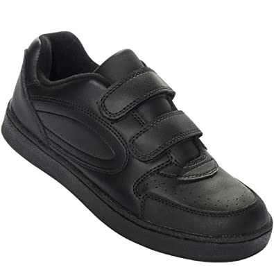 Amazon.com: Mens or Women's Black Leather Sneaker Shoe with Double