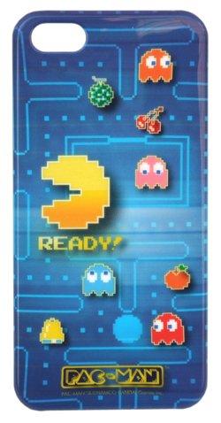PAC-MAN(パックマン) iPhone5ケース ブルー7576【テレビゲーム アイフォン5ケース ジャケット カバー レトロ ファミコン】