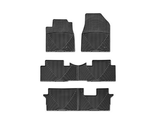 Weathertech WTHB148152153 All-Weather Front and Rear Floor Mat Set (Honda Pilot 2014 Weathertech compare prices)