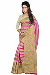 Sanju Trendy Pink Art Silk Traditional Wear Saree for Women