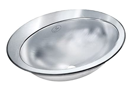 "Just Manufacturing OLR-17521-3 (4""oc) Single Bowl Lavatory - Self-Rimming -18 Gauge"