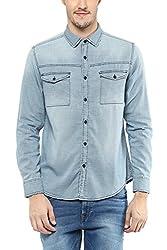 SF Jeans by Pantaloons Men Shirt 205000005563353_INDIGO_Large