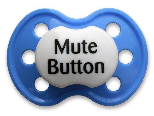 Booginhead Pacifier, Mute Button Dark Blue