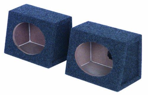 "2) New Q-Power Qtw6X9 Angled Style 6""X9"" Car Audio Speaker Box Enclosures Pair"