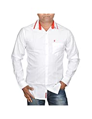 Hunk Men's White Cotton Shirt