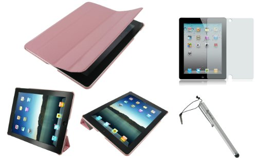 rooCASE 3n1 Ultra Slim (Pink) Leather Smart Case