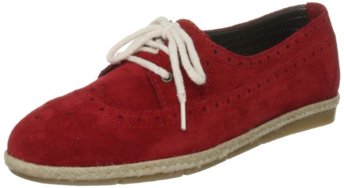 French Connection Women's Delia Sfal7 Red Lace Ups Trainers 2810150209 6 UK