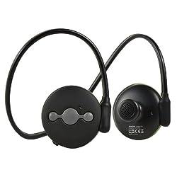 Avantree Sweatproof aptX V4.0 Bluetooth Sport Headphones, Light, Secure, Safe Outer Ear Speaker Outdoor Wireless Stereo Headset with Mic - Jogger Pro Black